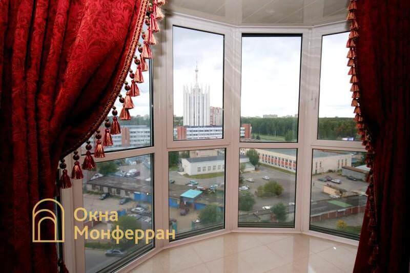 Панорамное остекление балкона пр. Тихорецкий