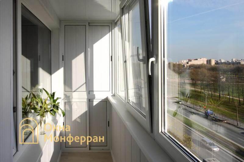 Остекление балкона с отделкой под ключ пр. Луначарского