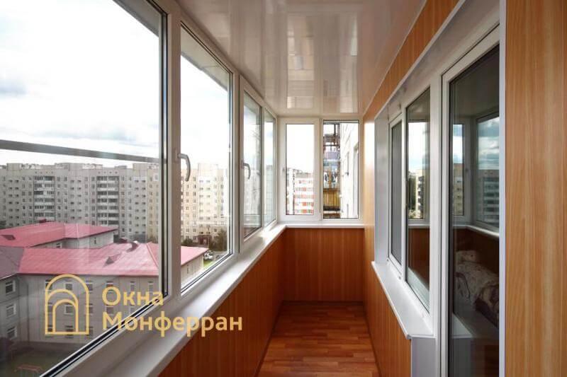 Теплое остекление балкона пос. Сертолово