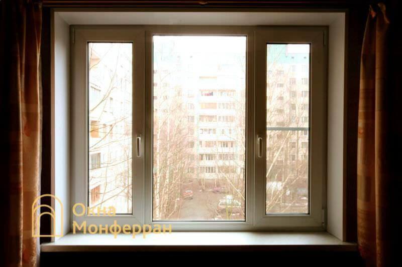 Пластиковое окно в 504 серии пр. Луначарского