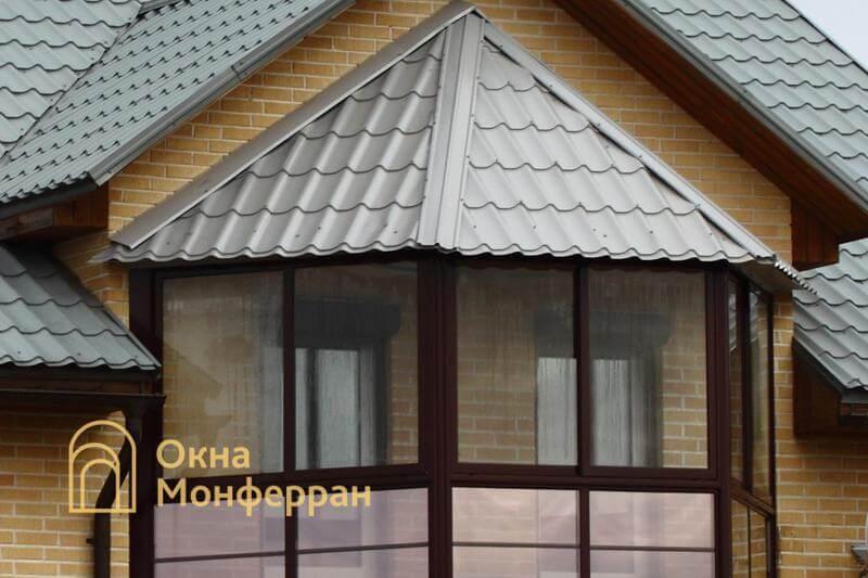 Балкон с крышей из металлочерепицы пос. Невская Дубровка