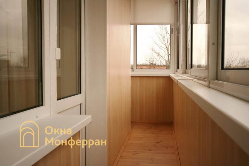 Холодное остекление углового балкона ул. Лени Голикова