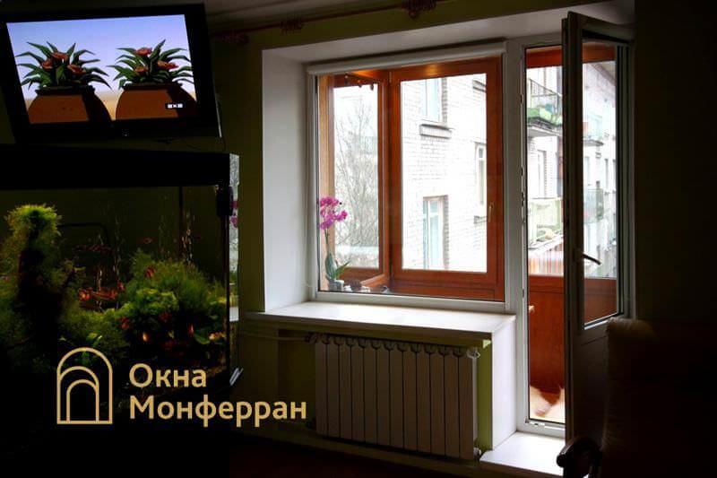 Балконная дверь с окном в хрущевке пр. Новоизмайловский