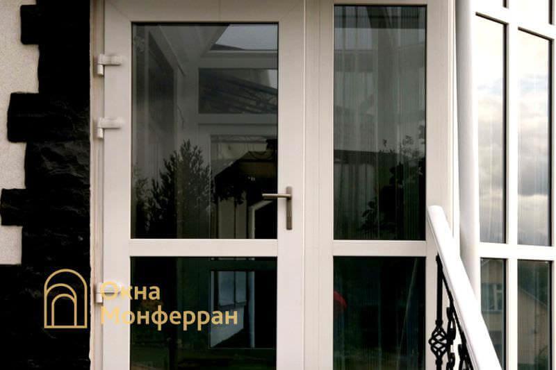 Металлопластиковая входная дверь в зимний сад пос. Мистолово