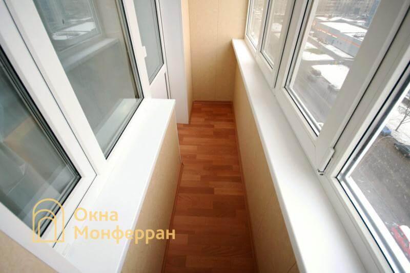 Теплое остекление балкона под ключ ул. Олеко Дундича