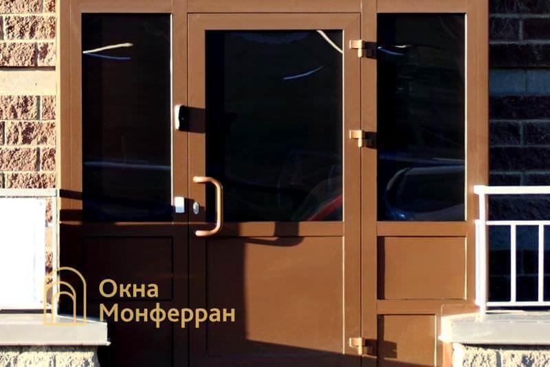 Алюминиевая входная дверь пр. Комендантский