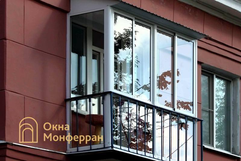Холодное панорамное остекление балкона, г. Пушкин