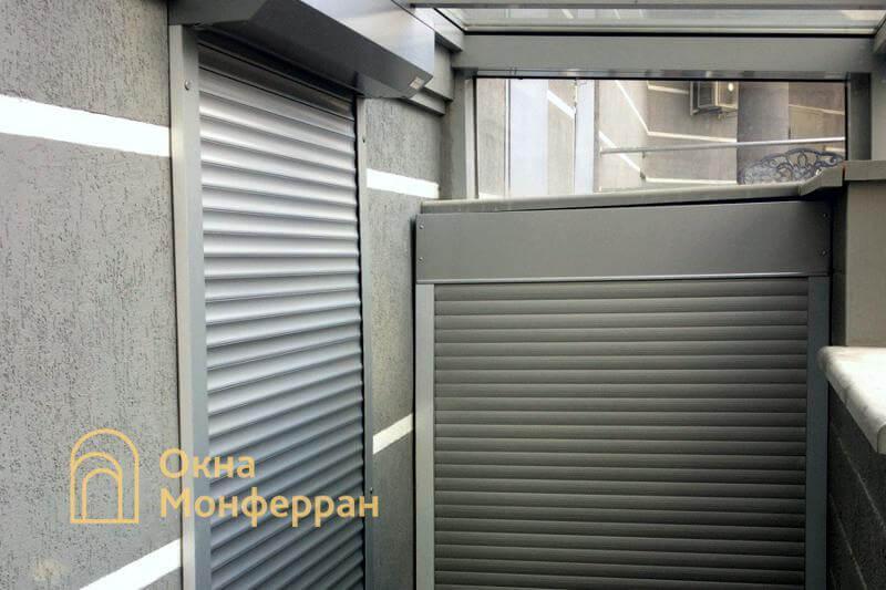 Защитные роллеты в подвальном помещении, ул. Старобельская