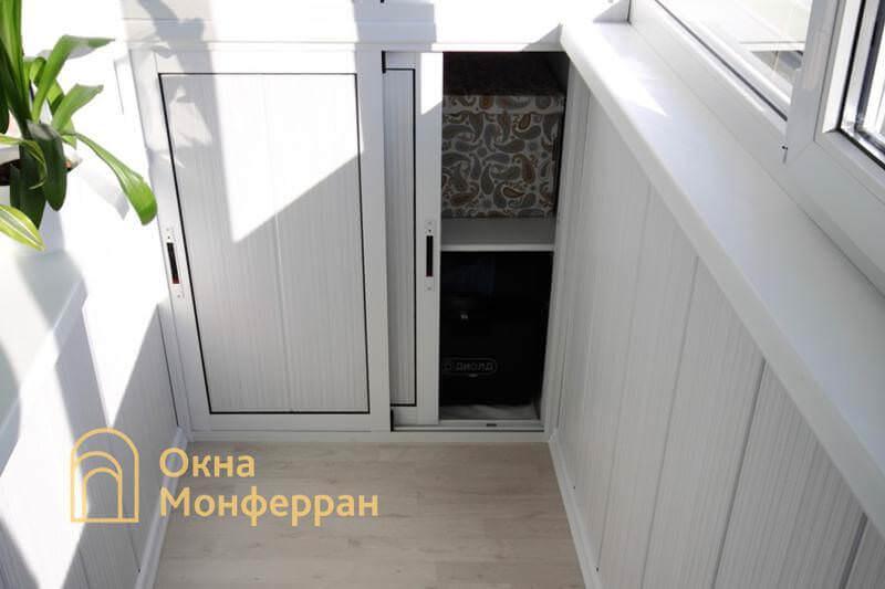 Алюминиевый шкаф на балконе, пр. Луначарского