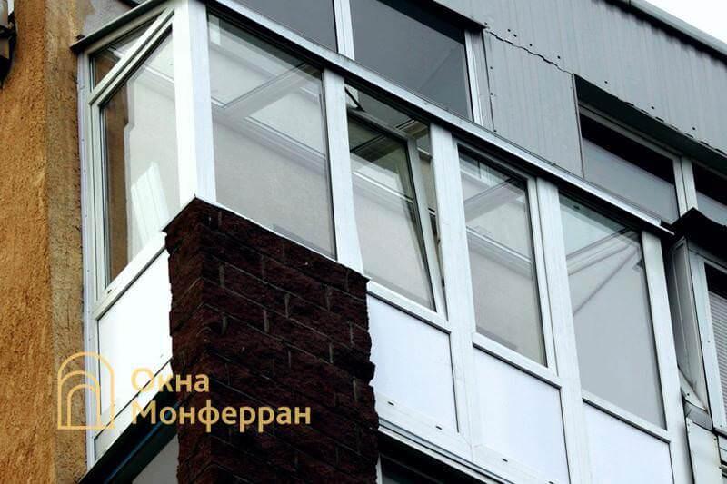 Остекление зимнего сада на балконе, ул. Ольминского