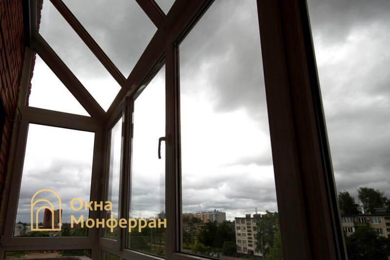 Остекление зимнего сада на балконе, пр. Науки