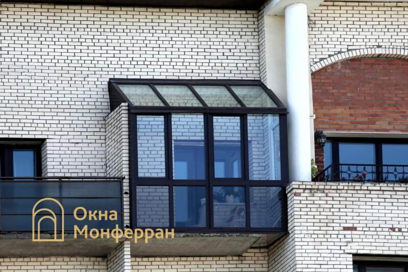 Остекление зимнего сада на балконе, ул. Нахимова
