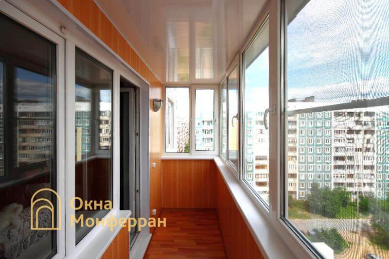 Остекление и отделка балкона под ключ в 606 серии, пос. Сертолово
