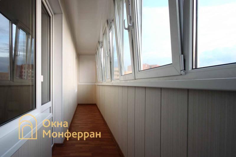 Остекление шестиметрового балкона в 137 серии, ул. Маршала Захарова