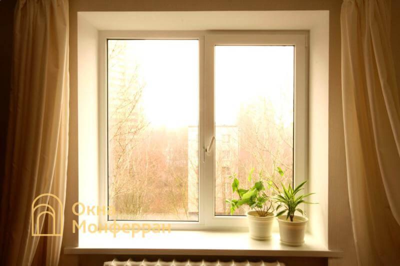 Пластиковое окно в кирпичной брежневке, ул. Лени Голикова