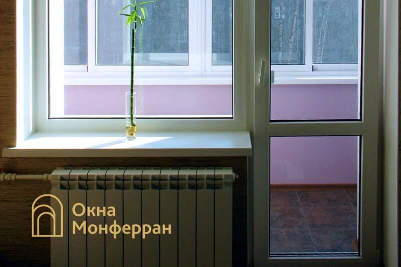 Пластиковое окно с балконной дверью в сталинке, пр. Московский