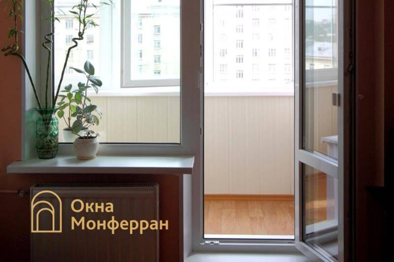 Пластиковое окно с балконной дверью в сталинке, ул. Свеаборгская