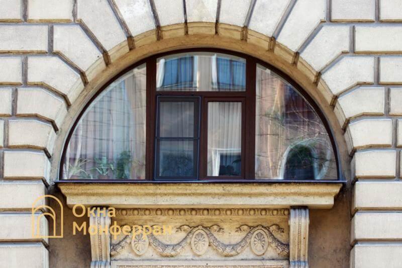 Арочное пластиковое окно в сталинке, ул. Шевченко