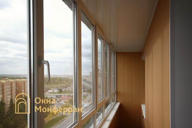 Остекление и отделка балкона под ключ в 137 серии, ул. Маршала Захарова