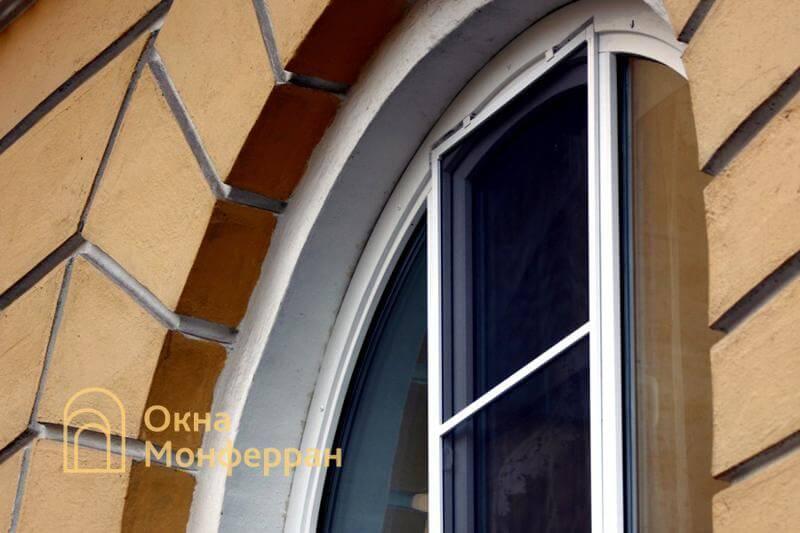 Арочное пластиковое окно в сталинке, пр. Стачек