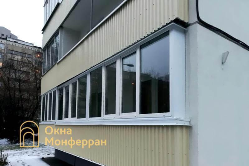 Остекление и отделка лоджии в 602 серии, пр. Славы
