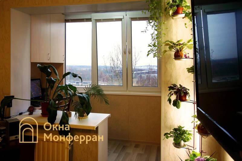 Объединение лоджии с комнатой в 504 серии, ул. Будапештская