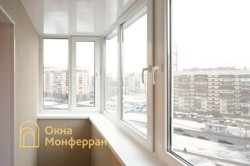 Остекление и отделка балкона с выносом в 137 серии, пр. Пятилеток