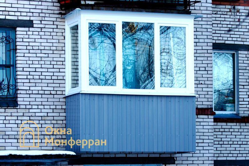 Теплое остекление балкона в брежневке, ул. Пограничника Гарькавого
