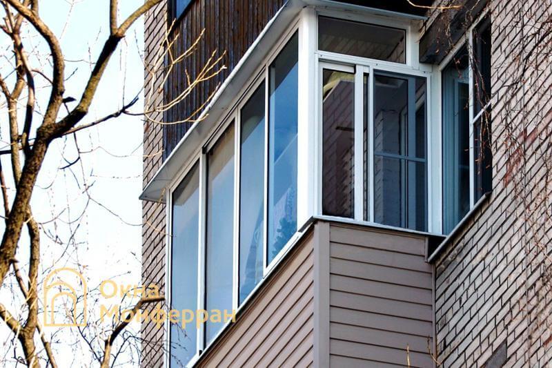 Холодное остекление балкона в брежневке, ул. Лени Голикова