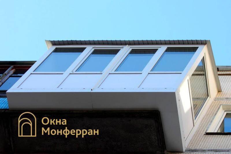 Остекление балкона с выносом пола в 606 серии, пр. Науки