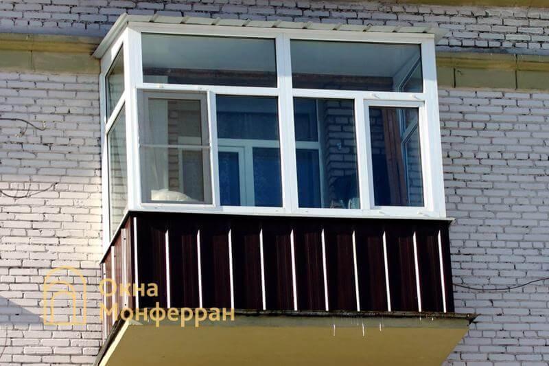 Теплое остекление балкона с крышей в сталинке, ул. Кронштадтская
