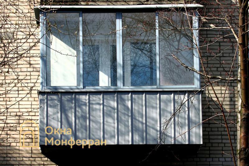 Холодное остекление балкона в кирпичной хрущевке, ул. Турку