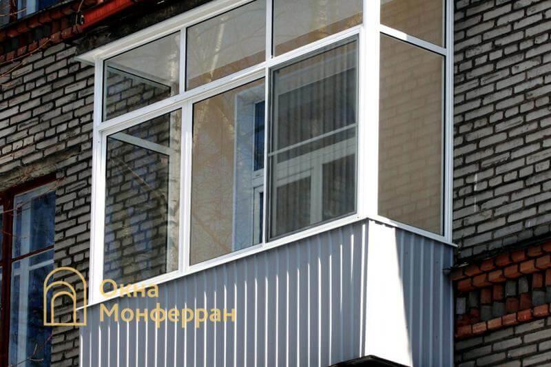 Холодное остекление балкона в сталинке, ул. Орбели