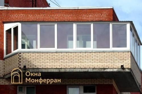 06 Угловой балкон с крышей, пр. Богатырский