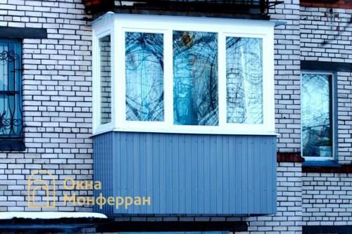 07 Теплое остекление балкона, ул. Пограничника Гарькавого