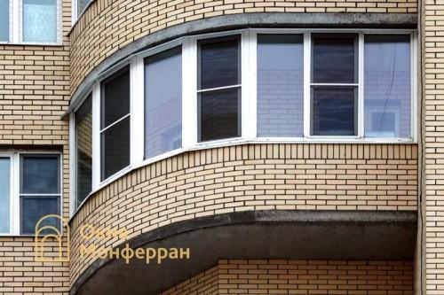 16 Теплое остекление полукруглого балкона ул Варшавская
