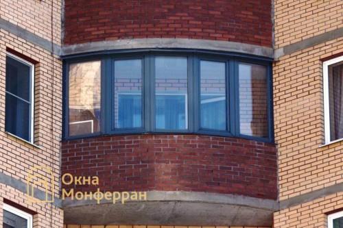 17 Остекление полукруглого балкона ул Авангардная