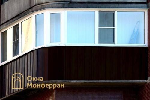 19 Остекление балкона в 137 серии ул Ленская