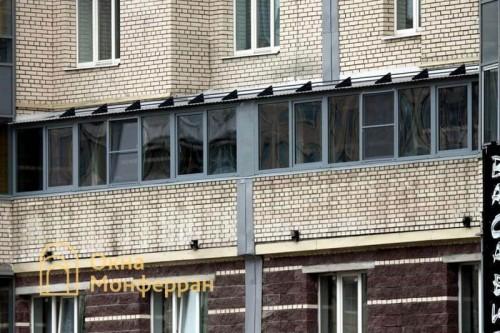 26 Остекление балкона с крышей пр Луначарского