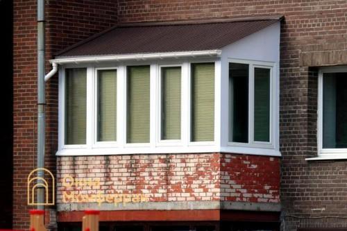 27 Остекление балкона с крышей ул Сикейроса