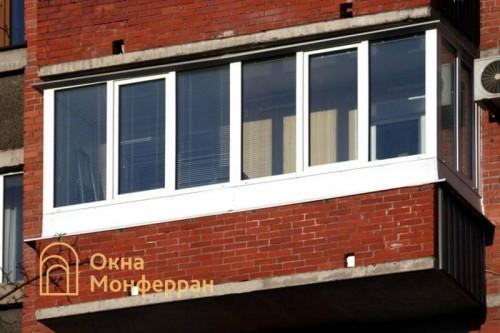 34 Остекление балкона, пр. Мориса Тореза