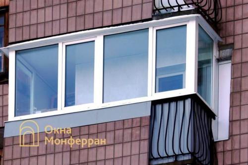 38 Теплое остекление балкона, пр. Мориса Тореза