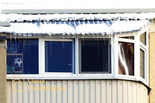 39 Скругленный балкон с крышей, пр. Ударников