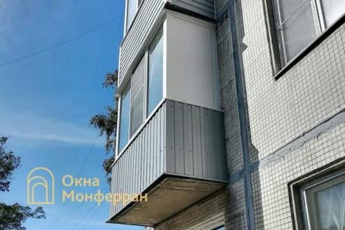 42 Теплое остекление балкона в хрущевке, ул. Брюсовская