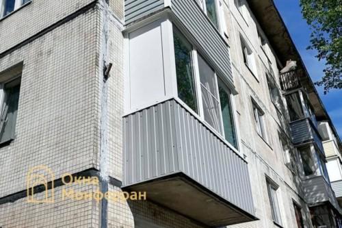 43 Теплое остекление балкона в хрущевке, ул. Брюсовская