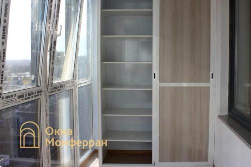 17 Монтаж шкафа на балкон