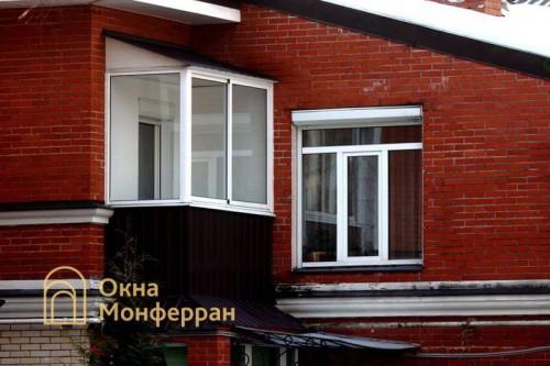 03 Остекление балкона с крышей г Павловск