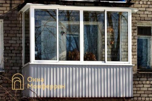 04 Остекление балкона в хрущевке, ул. Дивенская