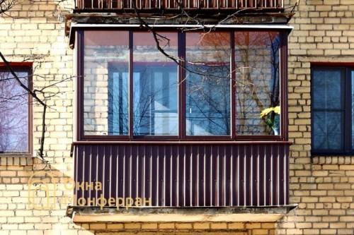05 Остекление балкона в хрущевке, пр. Металлистов