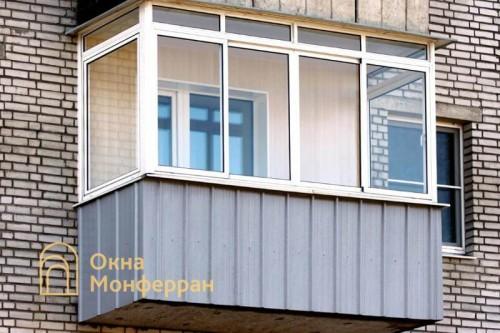 08 Холодное остекление балкона ул Сикейроса